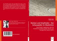 Denken und Empfinden - Der Schauspieler im Maelström kitap kapağı