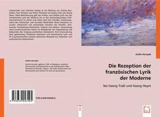 Buchcover von Die Rezeption der französischen Lyrik der Moderne