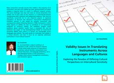 Bookcover of Validity Issues In Translating Instruments Across Languages and Cultures