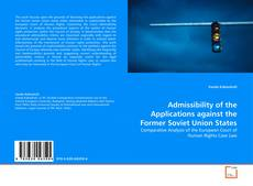 Capa do livro de Admissibility of the Applications against the Former Soviet Union States