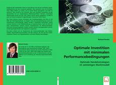 Bookcover of Optimale Investition mit minimalen Performancebedingungen