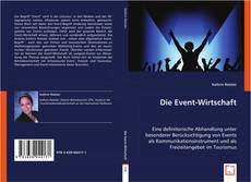 Buchcover von Die Event-Wirtschaft