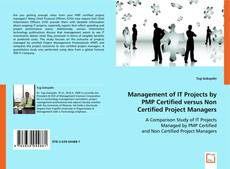 Buchcover von Management of IT Projects by PMP Certified versus Non Certified Project Managers
