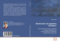Buchcover von Akkulturation als geplantes Verhalten?