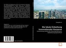 Die lokale Einbettung transnationaler Konzerne的封面