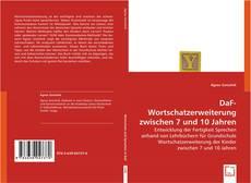 Обложка DaF-Wortschatzerweiterung zwischen 7 und 10 Jahren