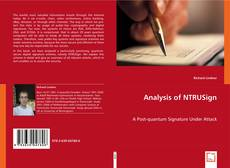 Couverture de Analysis of NTRUSign