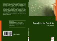 Bookcover of Test of Special Relativity