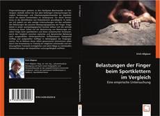 Belastungen der Finger beim Sportklettern im Vergleich kitap kapağı