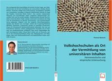 Buchcover von Volkshochschulen als Ort der Vermittlung von universitären Inhalten