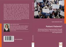 Couverture de Patient Patients?