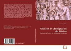 Buchcover von Allianzen im Gleichgewicht der Mächte