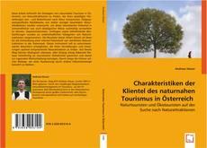 Buchcover von Charakteristiken der Klientel des naturnahen Tourismus in Österreich