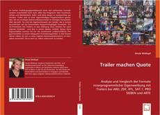 Buchcover von Trailer machen Quote