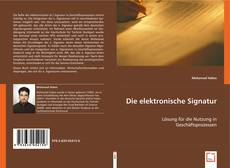Couverture de Die elektronische Signatur