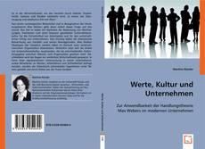 Buchcover von Werte, Kultur und Unternehmen
