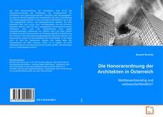 Buchcover von Die Honorarordnung der Architekten in Österreich