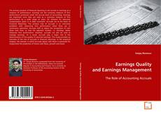 Portada del libro de Earnings Quality and Earnings Management