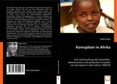 Portada del libro de Korruption in Afrika
