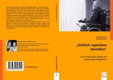 """Bookcover of """"Einfach irgendwo abstellen"""""""
