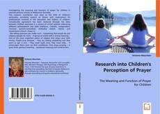 Bookcover of Research into Children's Perception of Prayer