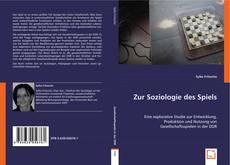 Buchcover von Zur Soziologie des Spiels