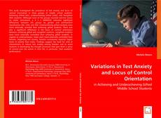 Buchcover von Variations in Test Anxiety and Locus of Control Orientation