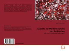 Bookcover of Aspekte zur Modernisierung des Arabischen