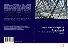 Buchcover von Politische Stiftungen in Deutschland