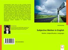 Bookcover of Subjective Motion in English