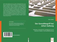 Der Gewaltbegriff bei Johan Galtung的封面