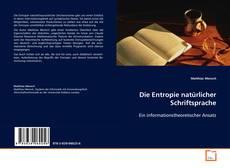 Buchcover von Die Entropie natürlicher Schriftsprache