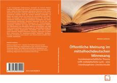 Buchcover von Öffentliche Meinung im mittelhochdeutschen Minnesang