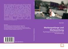 Capa do livro de Werbespotlänge und Werbewirkung