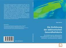 Portada del libro de Die Einführung der elektronischen Gesundheitskarte