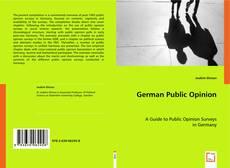 Buchcover von German Public Opinion