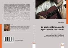 La società italiana nello specchio dei cantautori kitap kapağı