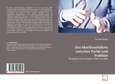 Capa do livro de Das Machtverhältnis zwischen Partei und Fraktion