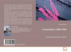 Couverture de Transnistria 1989-1992