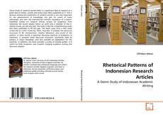 Rhetorical Patterns of Indonesian Research Articles的封面