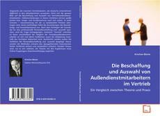Buchcover von Die Beschaffung und Auswahl von Außendienstmitarbeitern im Vertrieb