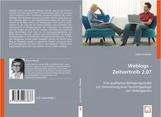 Bookcover of Weblogs - Zeitvertreib 2.0?
