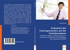 Portada del libro de Evaluation des Trainingstransfers auf der Verhaltensebene