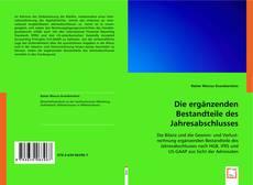 Capa do livro de Die ergänzenden Bestandteile des Jahresabschlusses