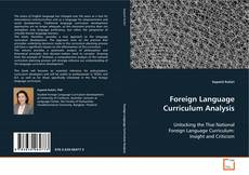 Portada del libro de Foreign Language Curriculum Analysis