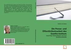 Buchcover von Die Presse- und Öffentlichkeitsarbeit des Goethe-Instituts