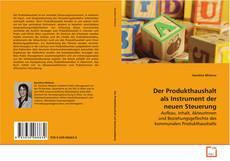Bookcover of Der Produkthaushalt als Instrument der neuen Steuerung