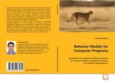 Borítókép a  Behavior Models for Computer Programs - hoz
