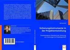 Обложка Sicherungsinstrumente in der Projektentwicklung
