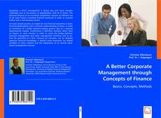 Capa do livro de A Better Corporate Management through Concepts of Finance
